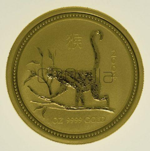 100 dollari Lunar I Scimmia
