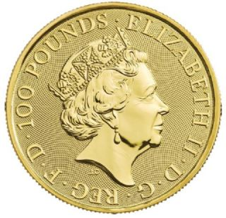 1 oz Queen's Beasts Leone bianco di Mortimer