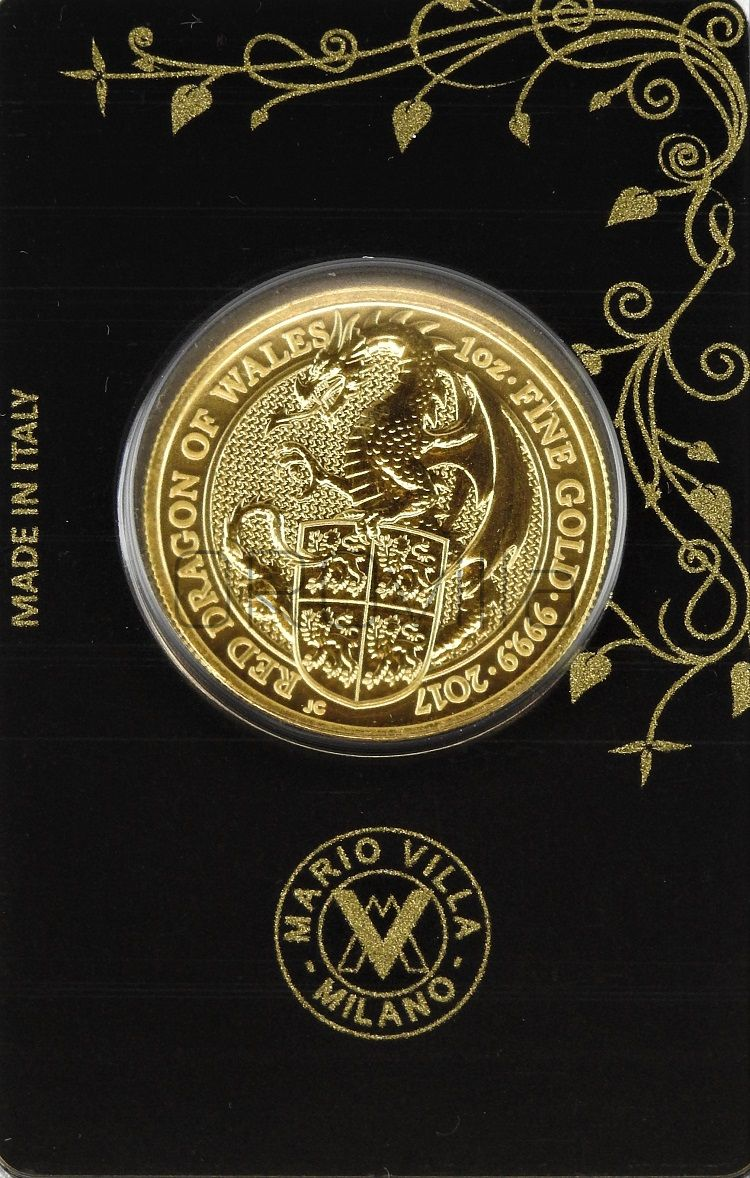 1 oz Queen's Beasts Red Dragon