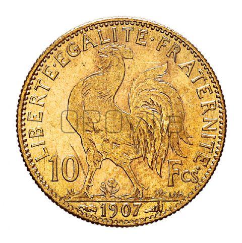 Mezzo marengo 10 franchi galletto