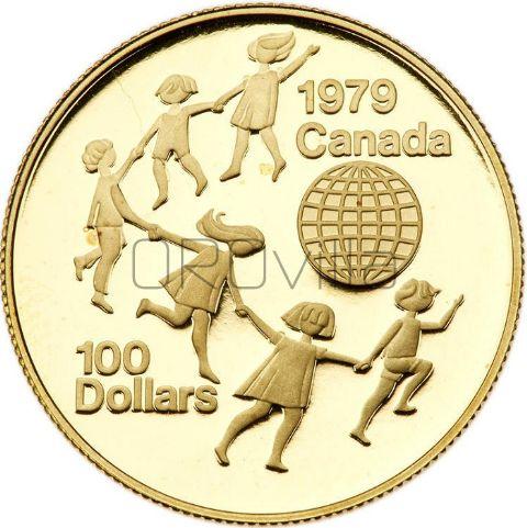 100 dollari Anno internazionale del bambino in confezione originale