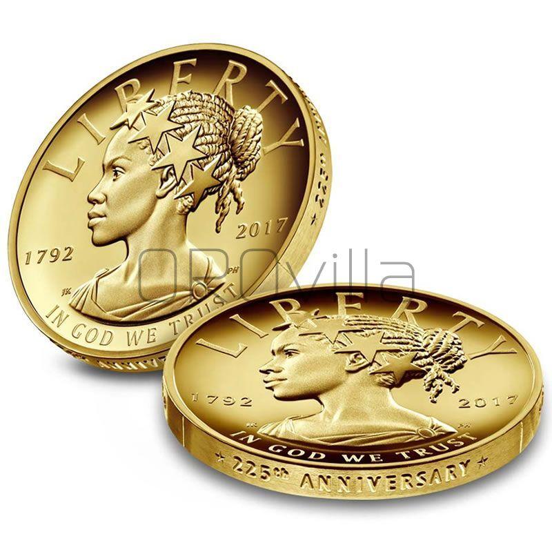 Moneta d'oro da 100 Dollari Lady Liberty