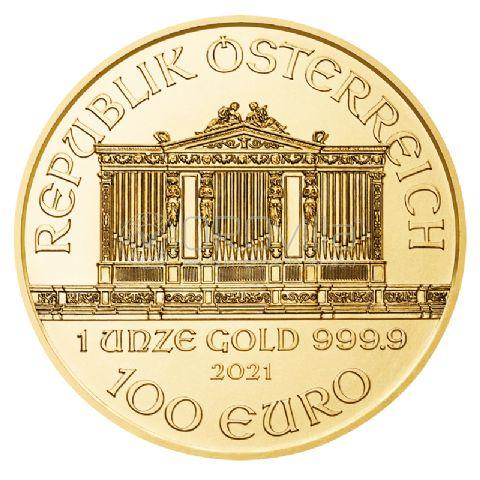 100 Euro Filarmonica di Vienna 2021