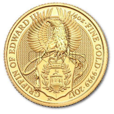 1/4 oz Queen's Beasts Griffin Edoardo III