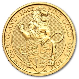 1/4 oz Queen's Beasts Lion of England