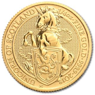 1/4 oz Queen's Beasts Unicorn of Scotland