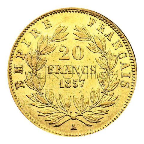 Marengo 20 Franchi Napoleone III testa nuda