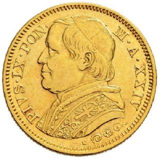 20 Lire Oro Stato Pontificio Pio IX