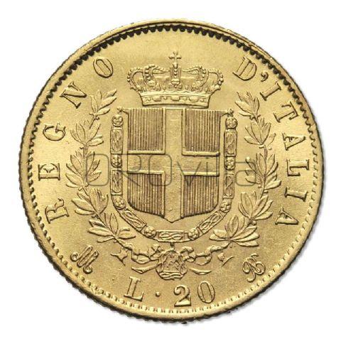 Marengo 20 Lire Vittorio Emanuele II Regno d'Italia