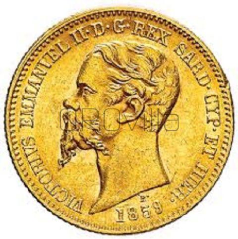 Marengo 20 Lire Vittorio Emanuele II Regno di Sardegna