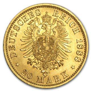 20 Marchi Federico III di Prussia 1888