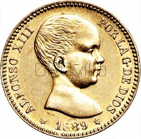 20 Pesetas Alfonso XIII (primo ritratto)