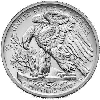 25 Dollari aquila americana 2017