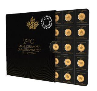25 x 1gr MapleGram (Canada)