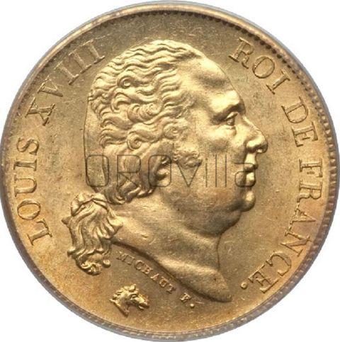 40 franchi Luigi XVIII