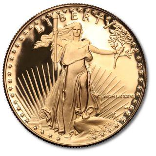 50 Dollari American Eagle 1986 in confezione originale