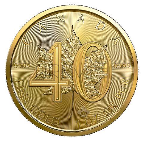 50 Dollari Maple Leaf - 40° anniversario