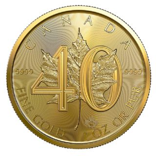 50 Dollari Maple Leaf - 40° anniversario