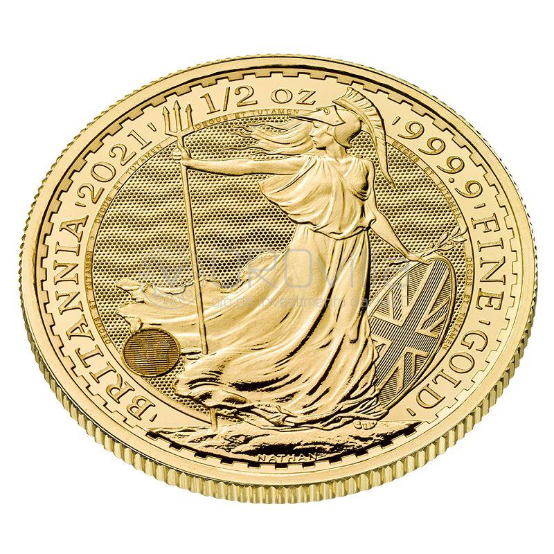 Britannia oro mezza oncia (2021)