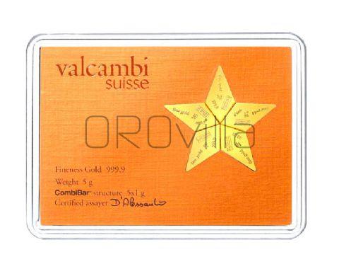 Combistar 5 lingotti oro da 1 grammo Valcambi