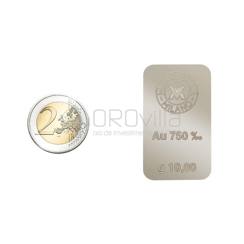 Lingotto 18 carati in oro bianco 10 grammi