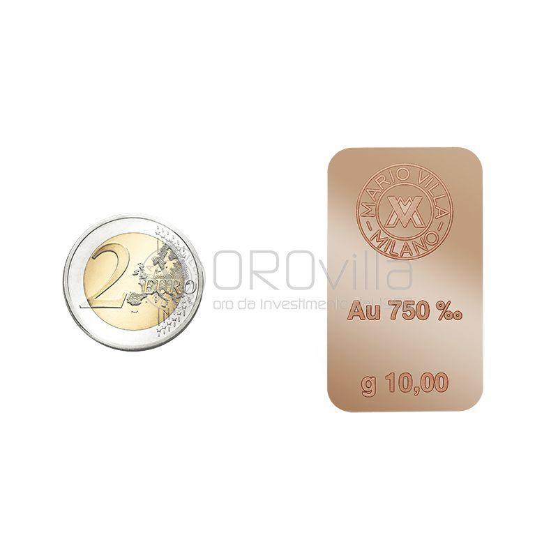 Lingotto 18 carati in oro rosso 10 grammi