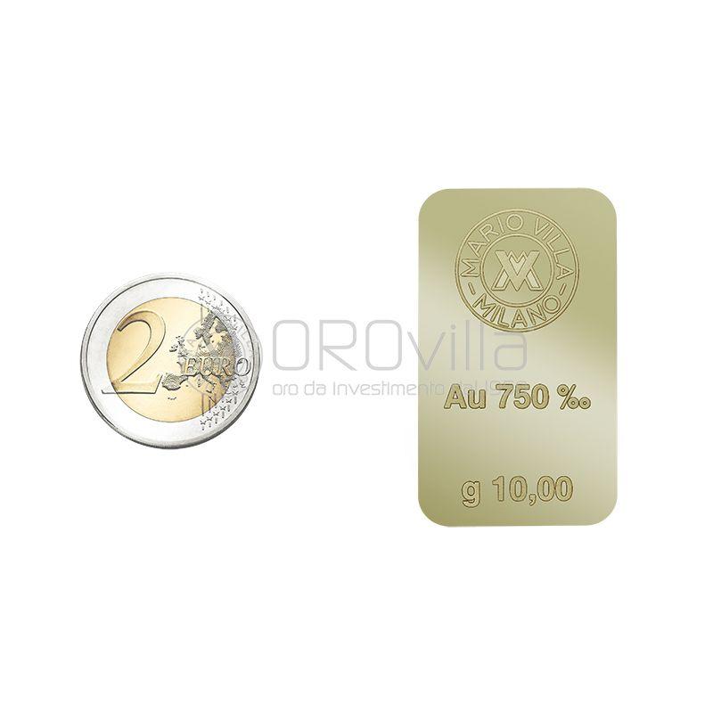 Lingotto 18 carati in oro verde 10 grammi