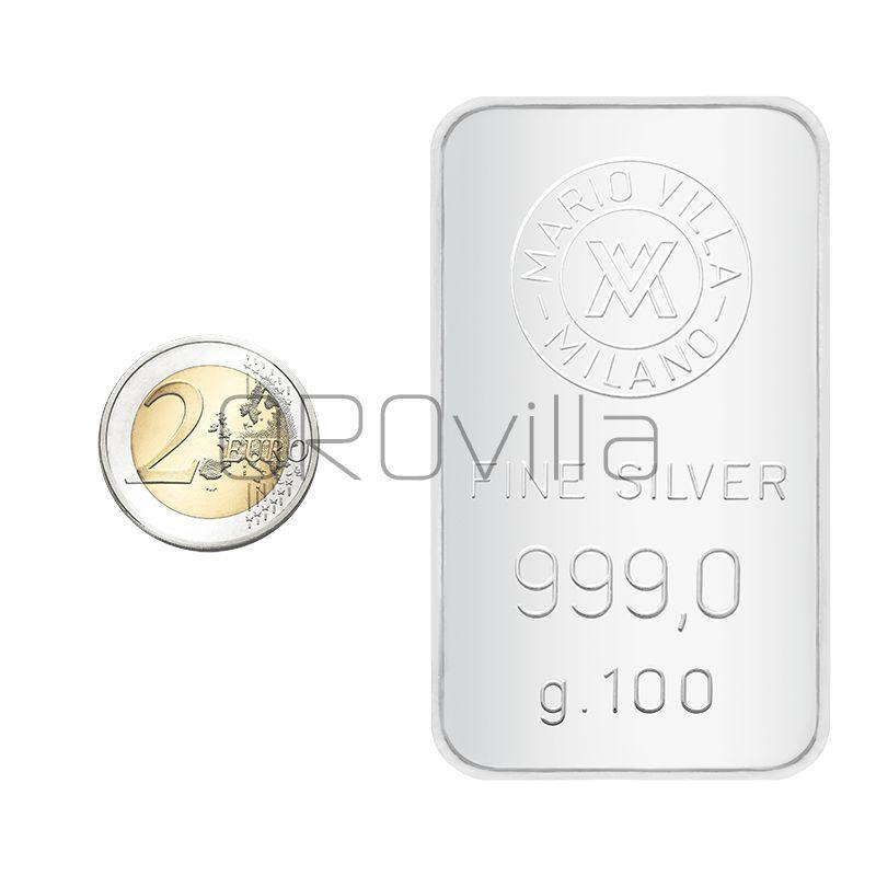 Lingotto argento 100 gr formato grande