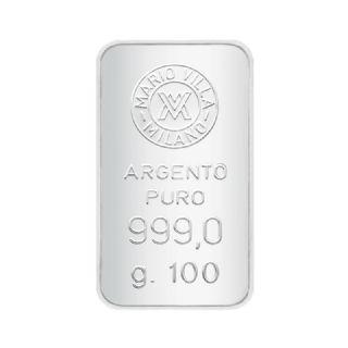 Lingotto argento 100 gr