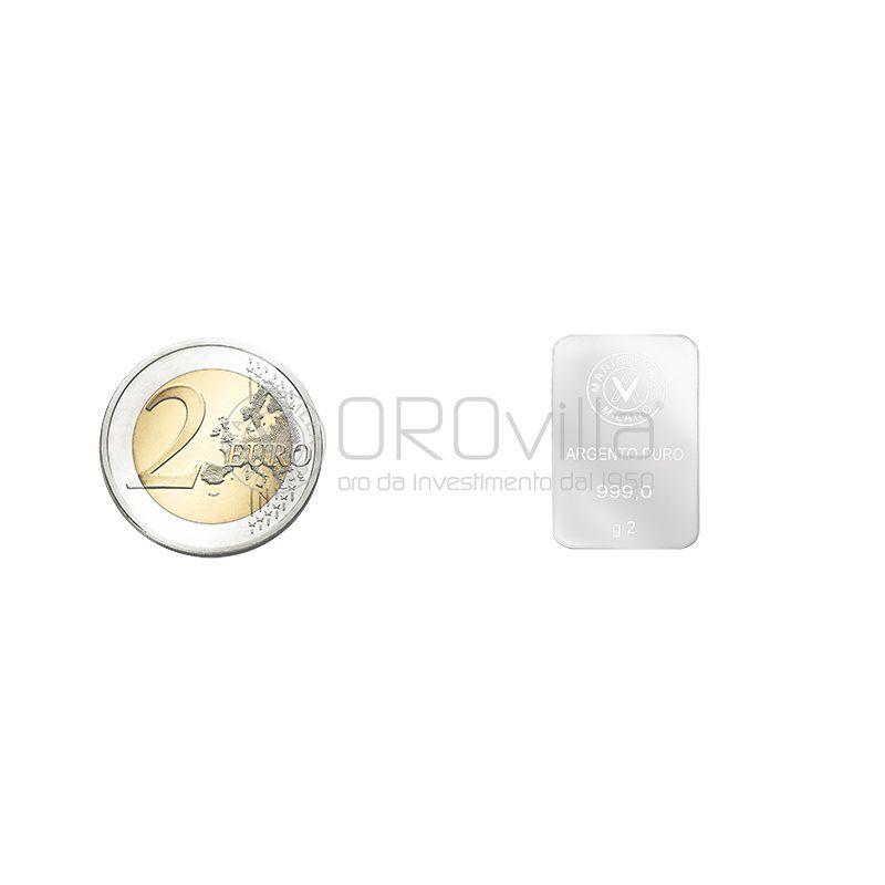 Lingotto argento 2 gr