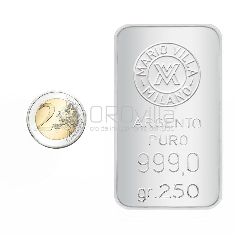 Lingotto argento 250 gr