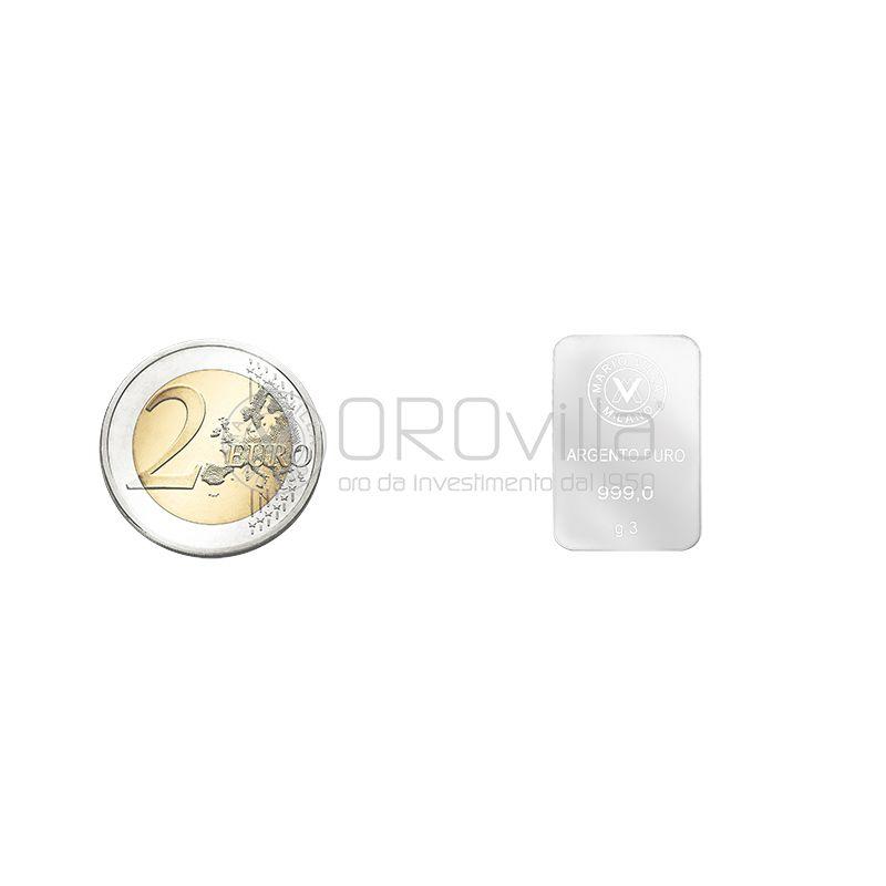 Lingotto argento 3 gr
