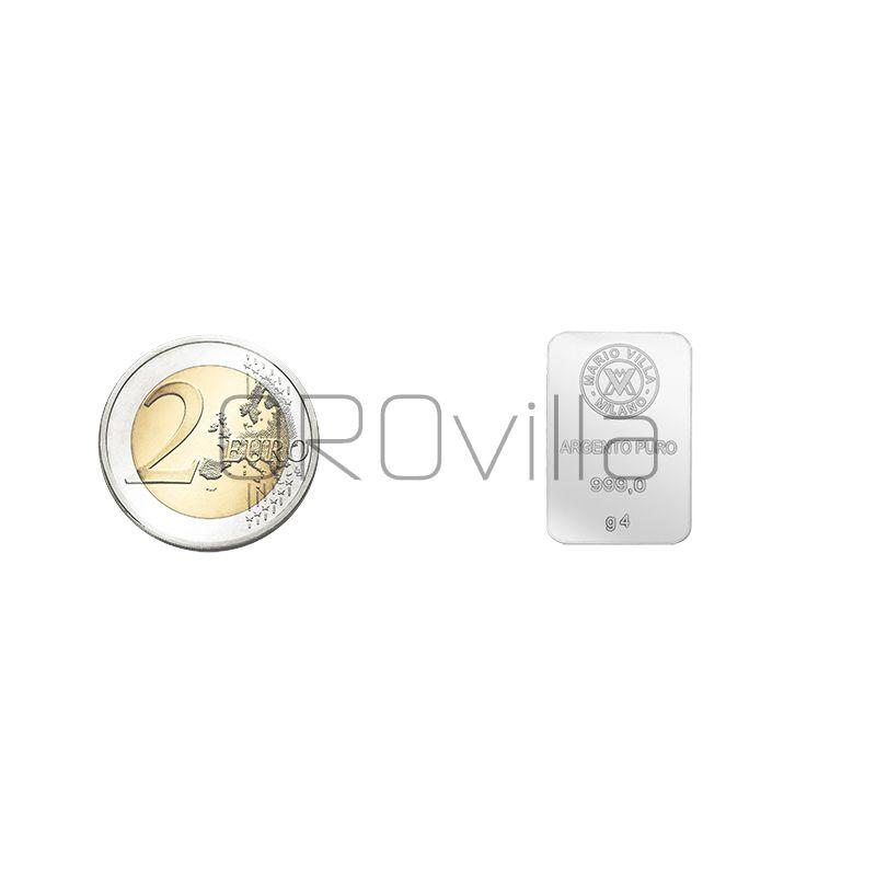 Lingotto argento 4 gr