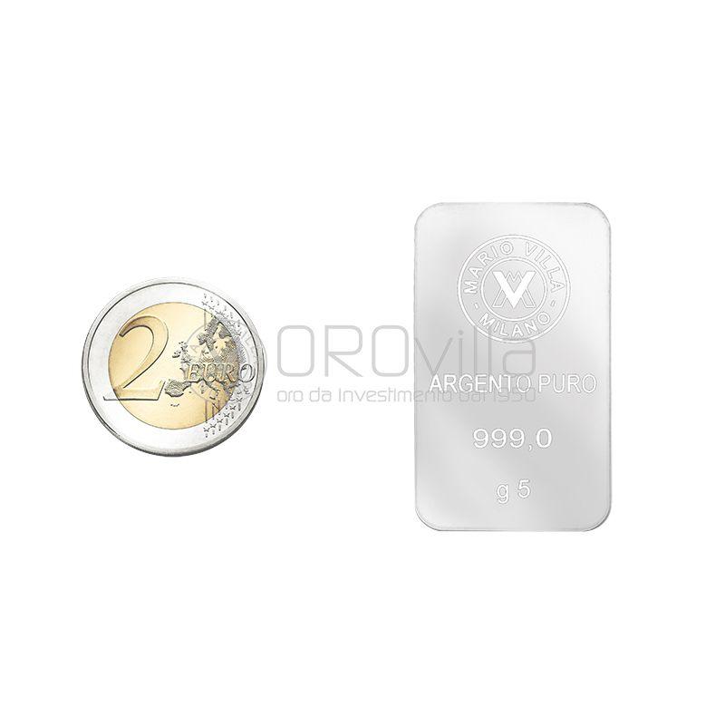 Lingotto argento 5 gr