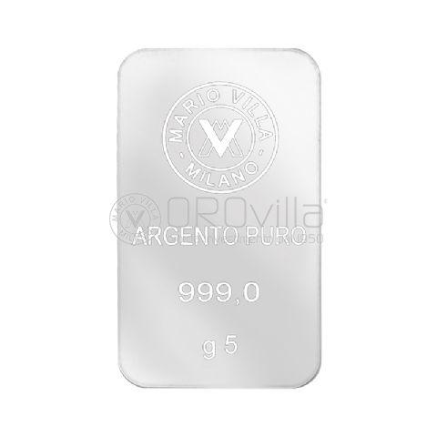 Lingotto laserato in argento 5 grammi