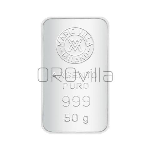 Lingotto argento 50 gr