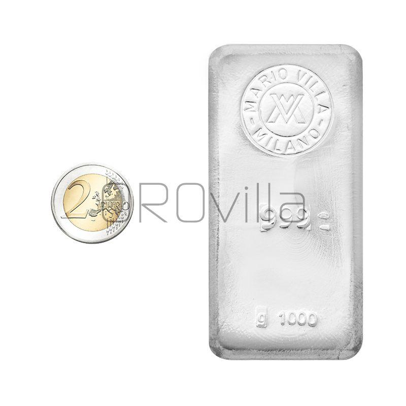 Lingotto argento fuso 1000 gr