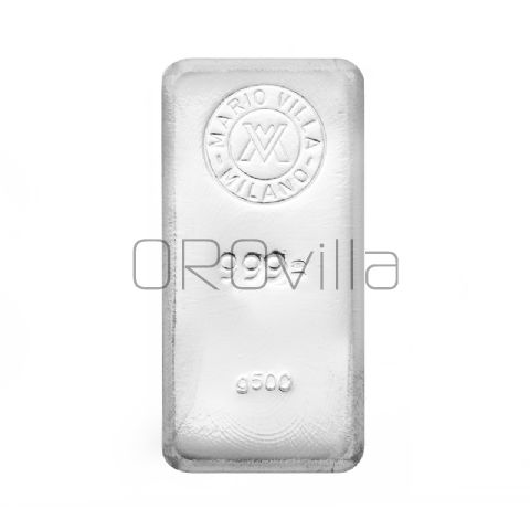 Lingotto argento fuso 500 gr