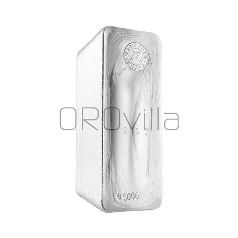 Lingotto argento fuso 5000 gr