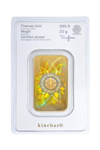Lingotto d'oro da 20 grammi Heraeus Kinebar®