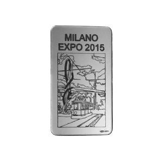 """Lingotto in Argento da 100 g  """"ago & filo col tram"""""""