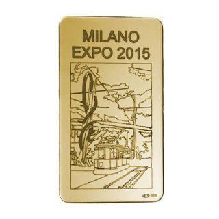"""Lingotto in oro g. 100  """"ago & filo col tram"""""""