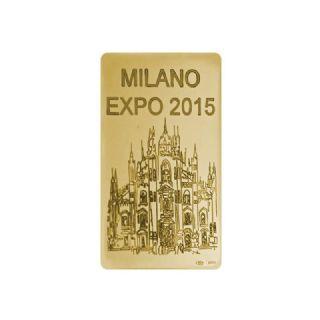"""Lingotto in oro g. 50  """"Duomo"""""""