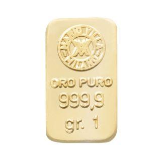 Lingotto oro 1 gr