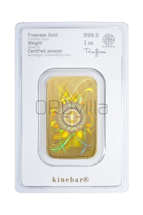 Lingotto oro 1 oz Heraeus Kinebar®