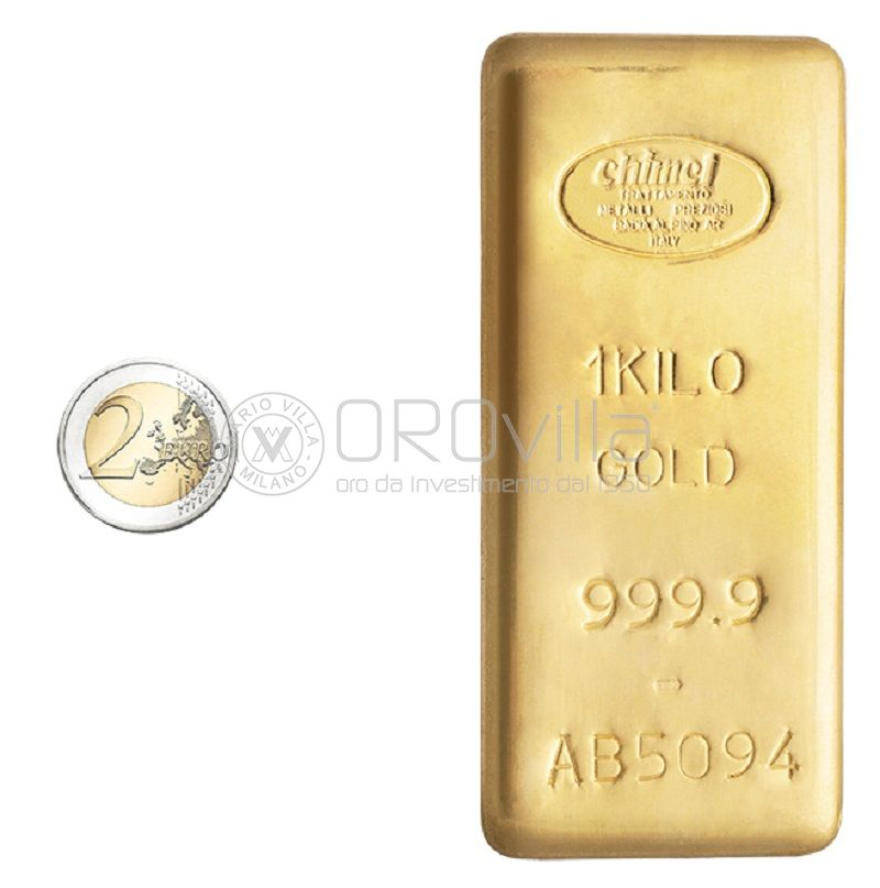 Lingotto oro 1000 gr LBMA Chimet