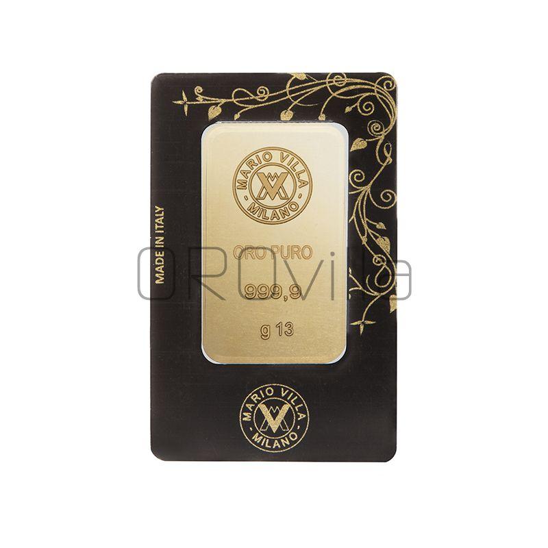 Lingotto oro blister 13 gr fronte