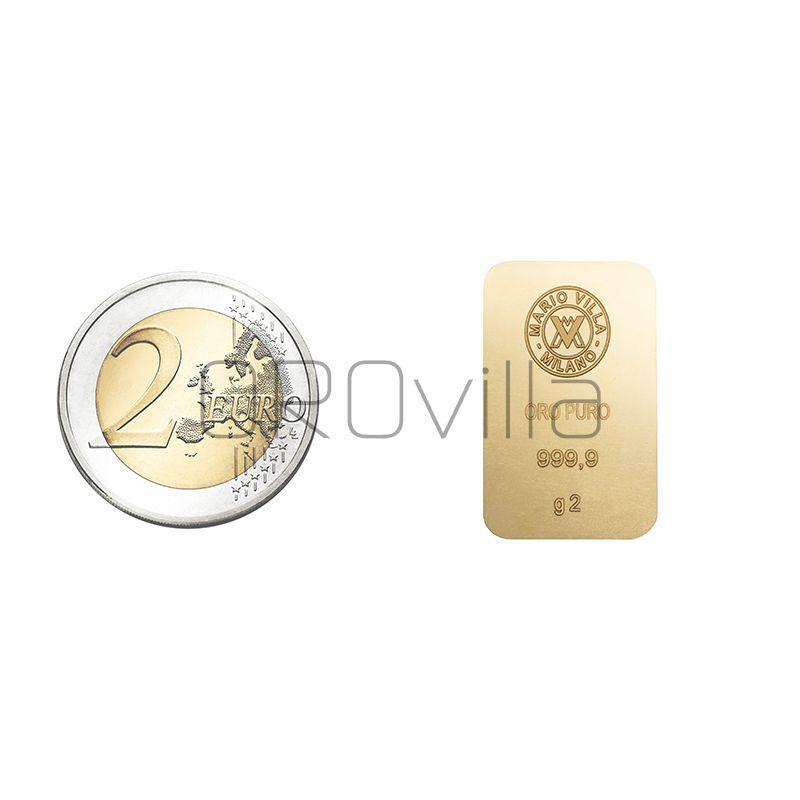 Lingotto oro 2 gr