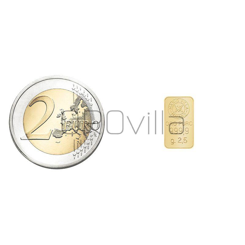 Lingotto oro 2 grammi e mezzo
