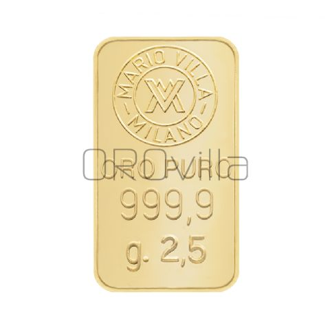 Lingotto oro 2,5 gr